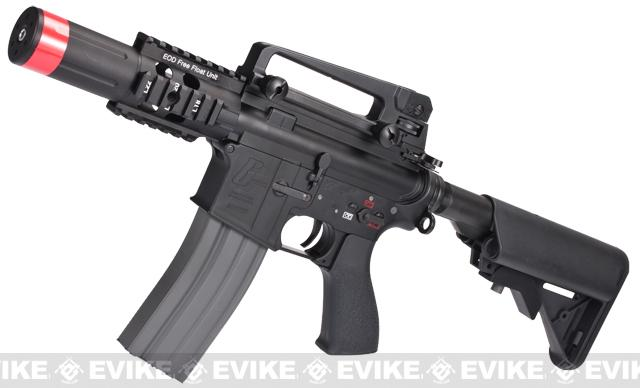 Evike Custom G&G Full Metal M4 Fighting Cat Airsoft AEG Rifle w/ Crane Stock - Black