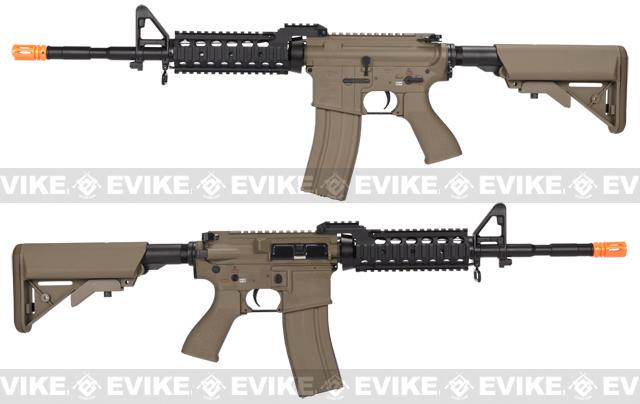 Evike Custom Class I G&G Full Metal M4 RASII Airsoft AEG Rifle w/ Crane Stock - Tan
