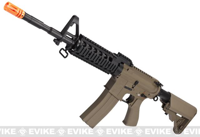 Evike Custom G&G Full Metal M4 RASII Airsoft AEG Rifle w/ Crane Stock - Tan