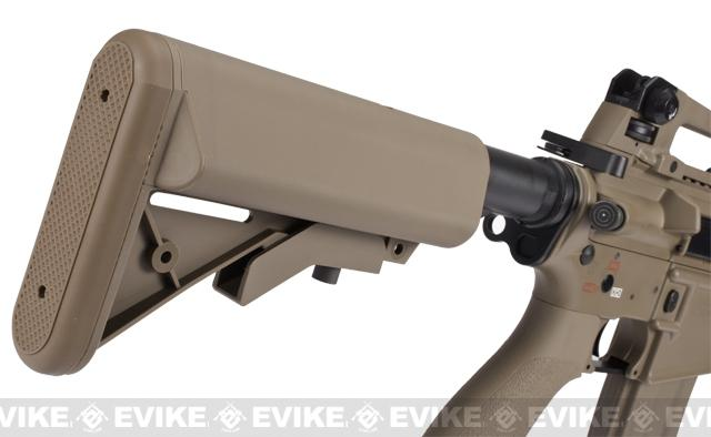 Evike Class I Custom G&G Full Metal M4 Stubby Killer Airsoft AEG Rifle w/ Crane Stock - Tan (Package: Gun Only)