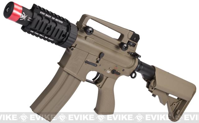 Evike Custom G&G Full Metal M4 Stubby Killer Airsoft AEG Rifle w/ Crane Stock - Tan