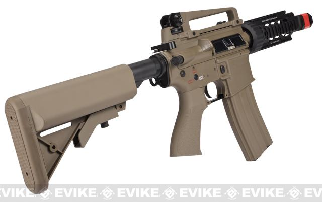 Evike Class I Custom G&G Full Metal M4 Tank Airsoft AEG Rifle w/ Crane Stock - Tan (Package: Gun Only)