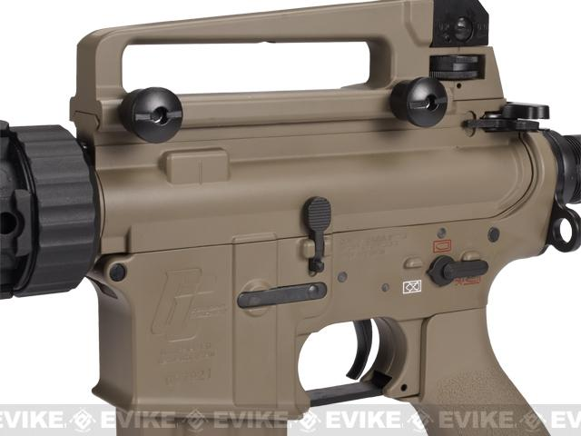 Evike Class I Custom G&G Full Metal M4 Tank Airsoft AEG Rifle w/ Crane Stock - Tan (Package: Add 9.6 Butterfly Battery + Smart Charger)