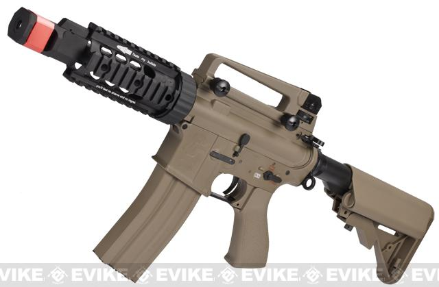 Pre-Order ETA August 2017 Evike Class I Custom G&G Full Metal M4 Tank Airsoft AEG Rifle w/ Crane Stock - Tan (Package: Gun Only)