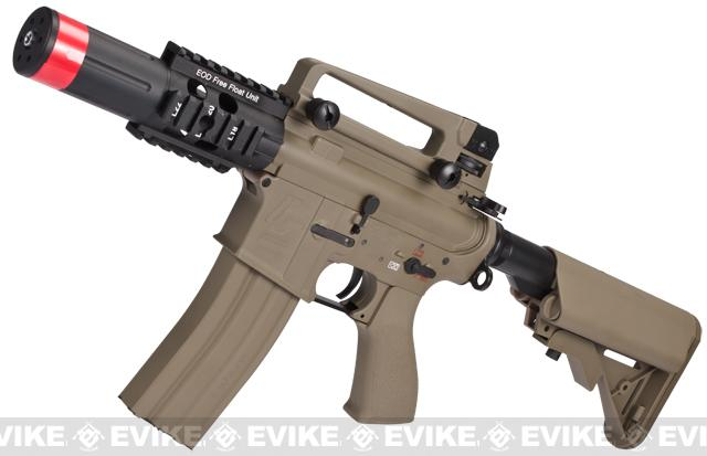 Evike Custom Class I G&G Full Metal M4 Fighting Cat Airsoft AEG Rifle w/ Crane Stock - Tan (Package: Gun Only)