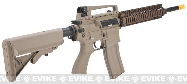 Pre-Order ETA February 2017 Evike Class I Custom G&G Full Metal M4 Airsoft AEG Rifle w/ Crane Stock - DD Mk18 RIS-II / Tan (Package: Gun Only)