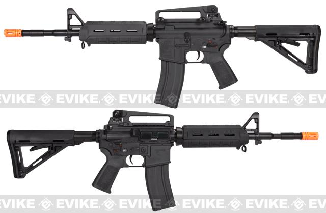 z Evike Custom G&G Full Metal M4 Magpul MOE Airsoft AEG Rifle - Black