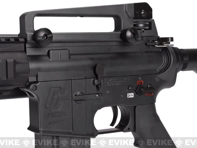 z Evike Custom G&G Full Metal M4 Patriot Airsoft AEG Rifle w/ LE Stock - Black