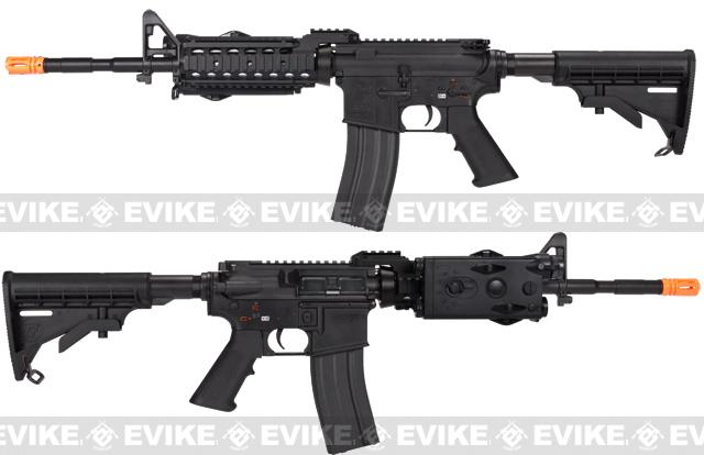 z Evike Custom G&G Full Metal M4 RASII Airsoft AEG Rifle w/ LE Stock - Black