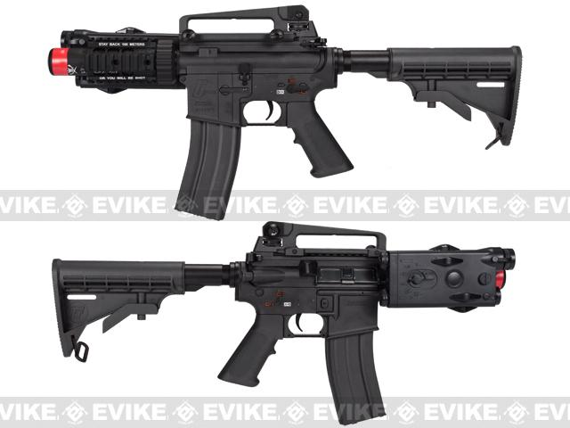 z Evike Custom G&G Full Metal M4 Stubby Killer Airsoft AEG Rifle w/ LE Stock - Black