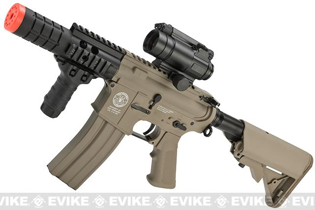 Evike Custom G&G M4 Patriot w/ Crane Stock Airsoft AEG Rifle - Tan