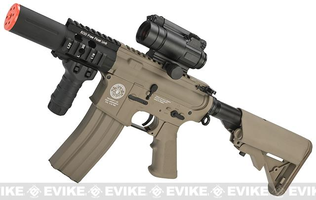Evike Custom G&G M4 Fighting Cat w/ Crane Stock Airsoft AEG Rifle - Tan