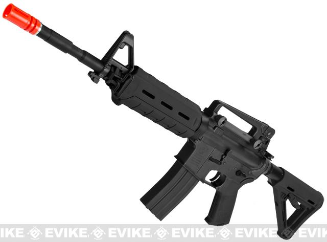 z Colt / Magpul PTS Licensed Full Metal Colt M4 MOE Carbine Airsoft AEG by King Arms - Black