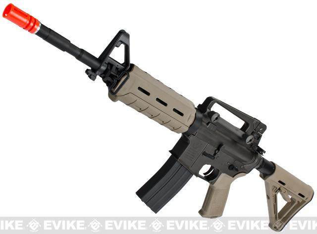 z Colt / Magpul PTS Licensed Full Metal Colt M4 MOE Carbine Airsoft AEG by King Arms - Dark Earth