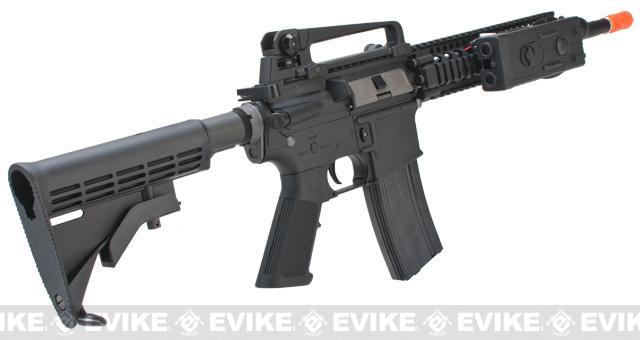 Evike Class I Custom WE-Tech Full Metal M4 Carbine Airsoft AEG Rifle - DD Mk18 RIS-II / Black