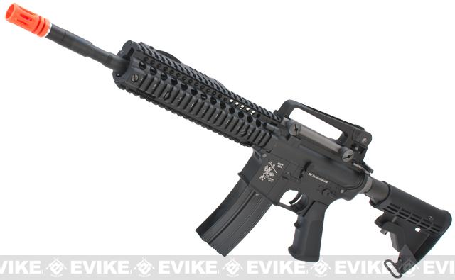 Evike Class I Custom WE-Tech Full Metal M4 Carbine Airsoft AEG Rifle - DD Mk18 RIS-II / Black