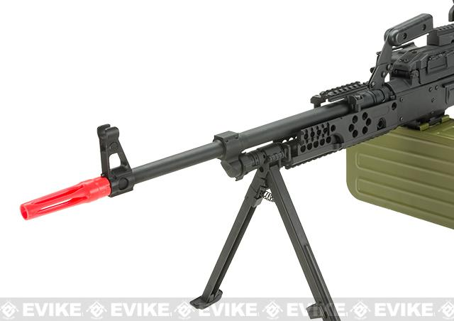 Evike.com Drakon Class II Custom PKM-R Airsoft AEG GP Machine Gun with RIS Mount and Optic