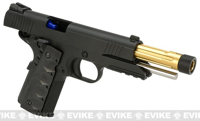 Pre-Order ETA April 2017 Evike Custom Class I Angel of Death Full Metal Airsoft Gas 1911 Pistol - Black (3 Magazines)