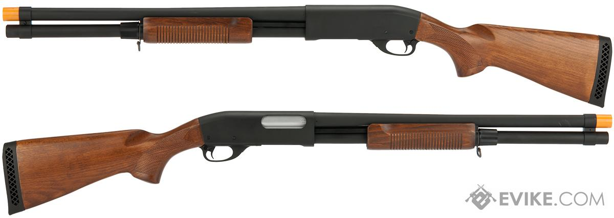 Classic Army S013P CA870 Spring Powered Tactical Type Shotgun with Metal Body and Wood Furniture