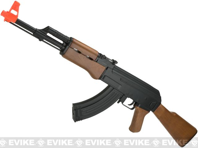 CYMA CM022 AK47 Full Size Low Power Airsoft AEG Rifle - Imitation Wood