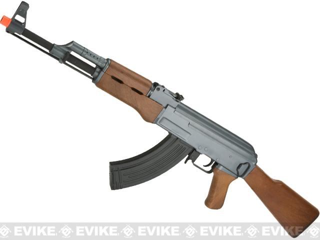 CYMA CM028 Airsoft AK47 AEG Rifle - Simulated Wood Furniture (Package: Add Battery + Charger)