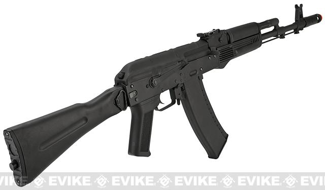 CYMA Stamped Metal AK-74 w/ Folding Synthetic Stock Airsoft AEG Rifle - (Package: Add Battery + Charger)