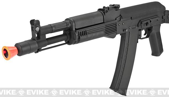 CYMA Stamped Metal AK-104 w/ Folding Synthetic Stock Airsoft AEG Rifle - (Package: Gun Only)