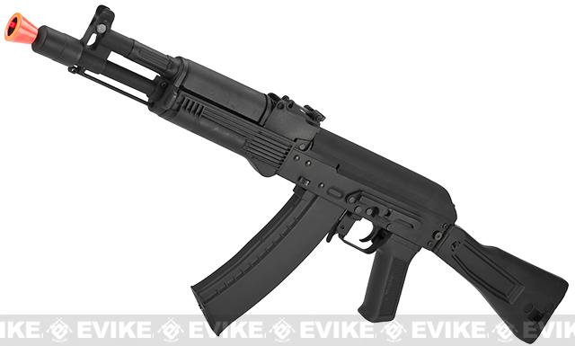 CYMA Stamped Metal AK-104 w/ Folding Synthetic Stock Airsoft AEG Rifle - (Package: Add 7.4v LiPo Battery + BMS Charger + LiPo Safe)