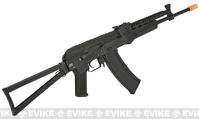 Pre-Order ETA June 2017 CYMA Stamped Metal AK-74 KTR w/ Folding Stock Airsoft AEG Rifle - (Package: Add Battery + Charger)