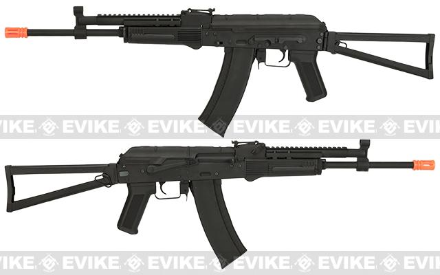 CYMA Stamped Metal AK-74 KTR w/ Folding Stock Airsoft AEG Rifle - (Package: Gun Only)