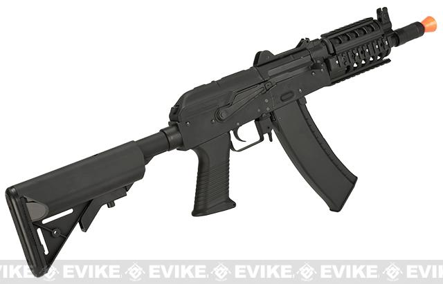CYMA AKS-74UN RAS w/ M4 Crane Stock Airsoft AEG Rifle - (Package: Add Battery + Charger)