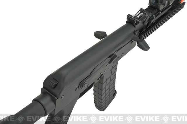 CYMA CM040I Tactical Full Metal Tactical AK Airsoft AEG Rifle - Black (Package: Add Battery + Charger)