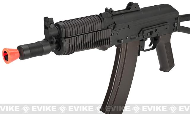 CYMA Stamped Metal AK74U w/ Folding Stock Airsoft AEG Rifle - Polymer Furniture (Package: Gun Only)
