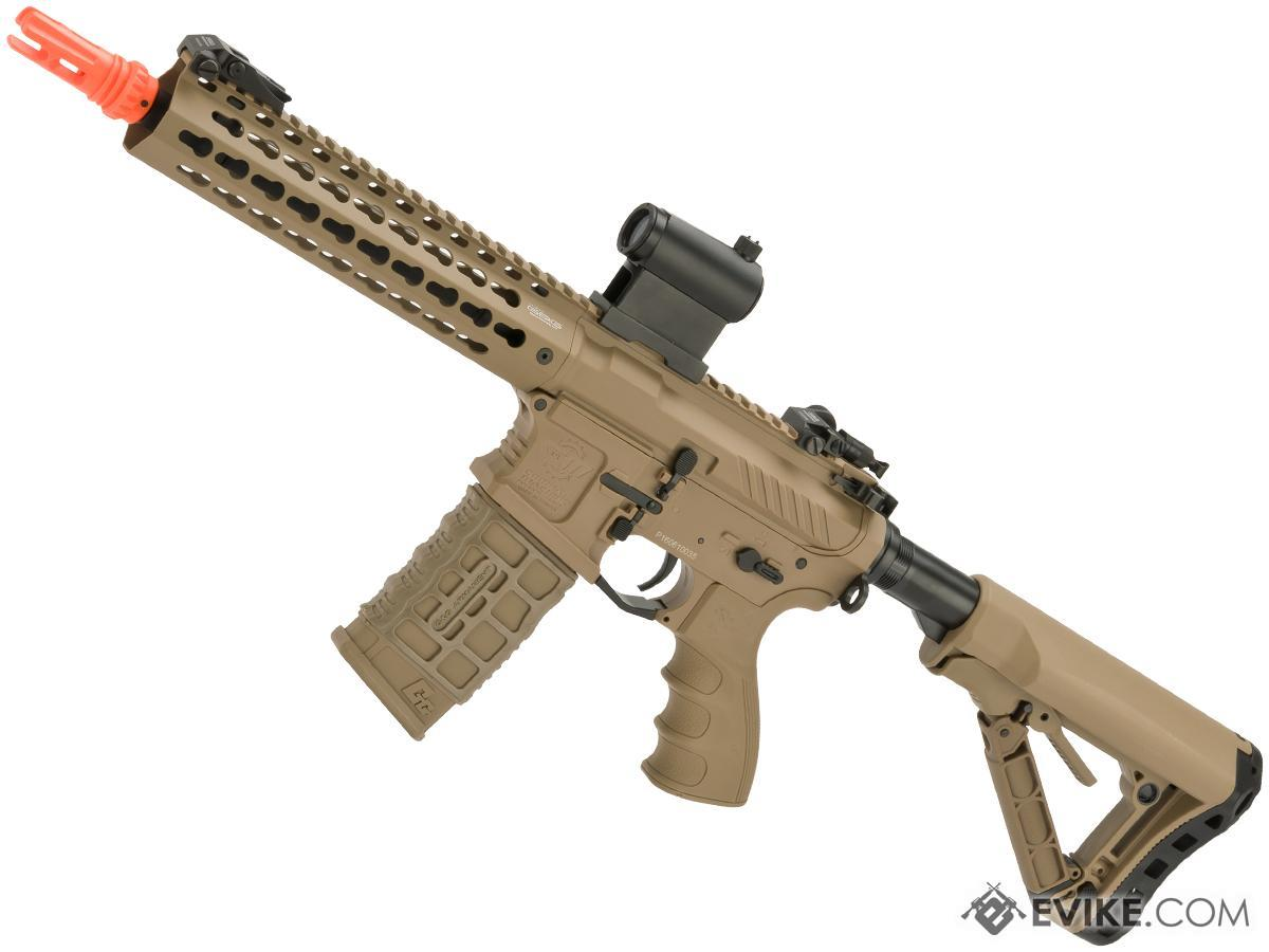 G&G Combat Machine CM16 SRL Airsoft M4 AEG Rifle with Keymod Rail (Package: Dark Earth / Gun Only)