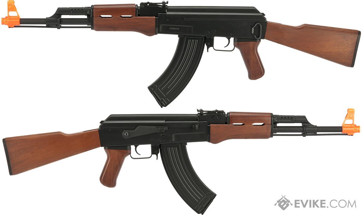 CYMA CM200 Full Size AK47 Low Power AEG (LPAEG) with Imitation Wood furniture