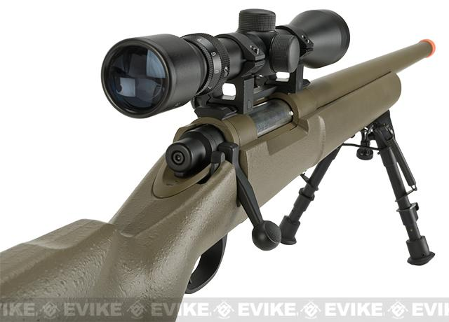 CYMA Advanced M24 Military Airsoft Bolt Action US Army Scout Sniper Rifle (Model: Desert)