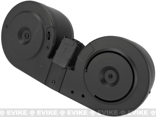 A&K 3000rd Auto Winding & Sound Control C-Mag Magazine for G3 Series Airsoft AEG