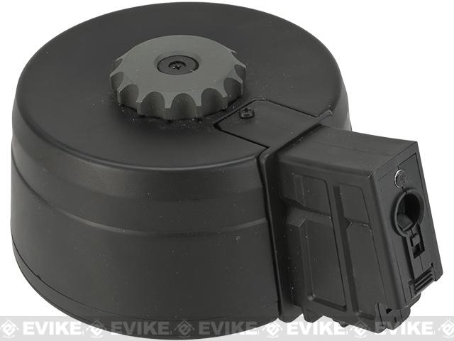 A&K 3000rd Auto Winding & Sound Control Drum Magazine for G36  Series Airsoft AEG