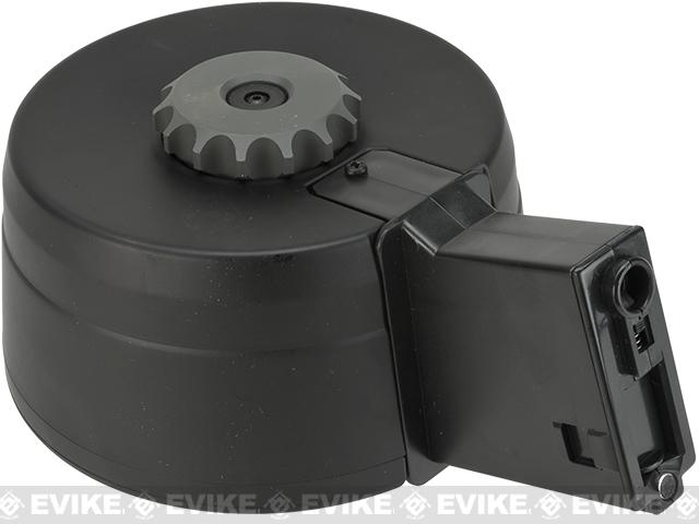 A&K 3000rd Auto Winding & Sound Control Drum Magazine for M4/M16  Series Airsoft AEG