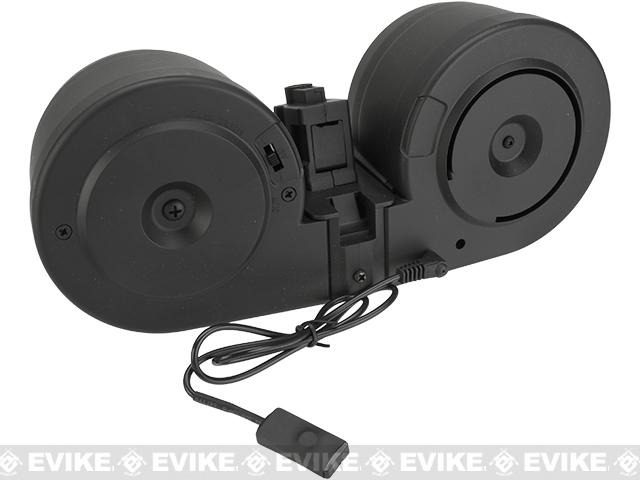 Matrix 2500rd Electric Auto Winding Drum Magazine for MP5 Series Airsoft AEG