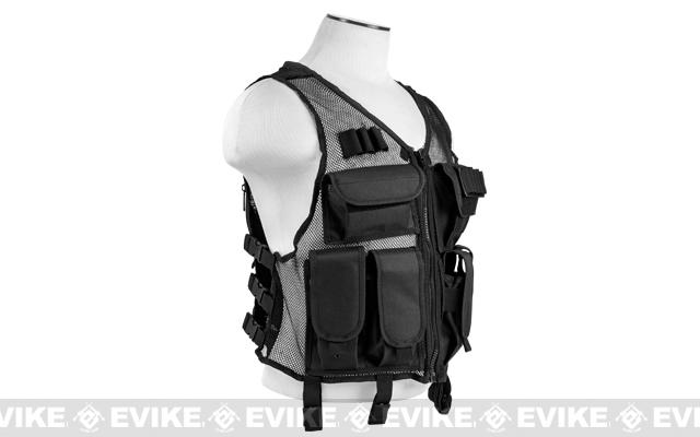 NcStar VISM Lightweight Mesh Tactical Vest - Black