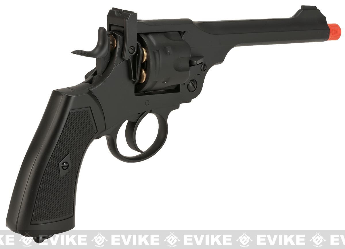 WELL Webley MK VI Airsoft Revolver - Black