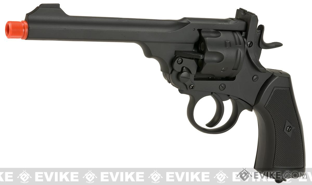 Pre-Order ETA May 2017 CSI Webley MK VI Airsoft Co2 Gas Revolver - Black