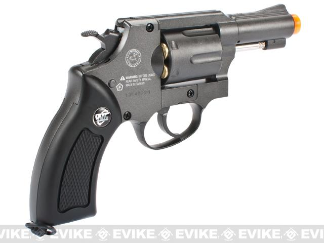 G731 Full Metal CO2 Gas Airsoft Revolver by Win Gun - Black