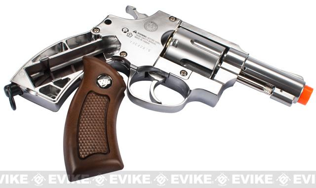 G731 Full Metal CO2 Gas Airsoft Revolver by Win Gun - Chrome