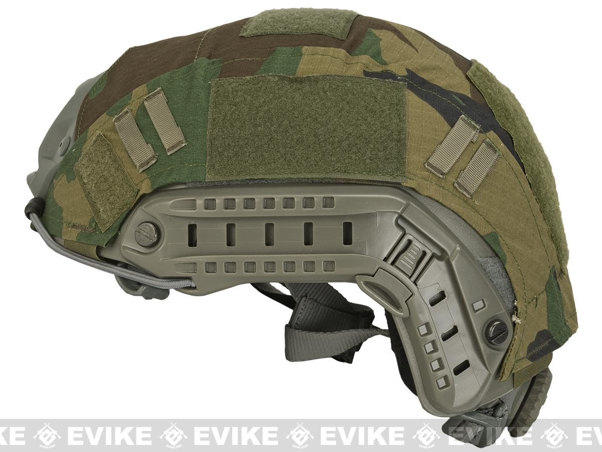 Emerson Tactical Helmet Cover for PJ and MH Type Airsoft Helmet - Woodland