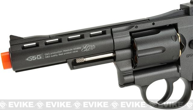 z G&G G732 CO2 Full Metal 4 High Power Airsoft 6mm Magnum Gas Revolver - Black