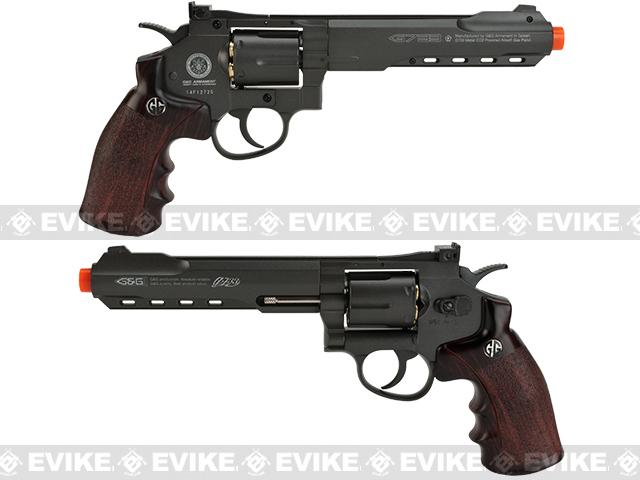 z G&G G733 CO2 Full Metal 6 High Power Airsoft 6mm Magnum Gas Revolver - Black