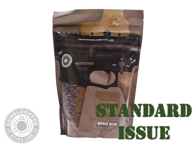 Guns & Coffee ™ Fully Loaded 100% Arabica Premium Coffee - Standard Issue Medium Roast / 1lb Sealed Bag