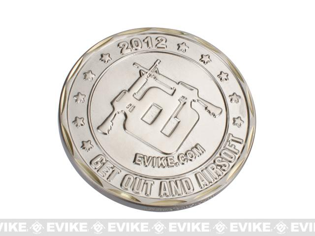 Evike.com 2012 Limited Edition Brass 50mm Collectible Challenge Coin